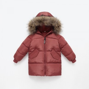 Куртка зимняя для девочки Даллас, коричневый Berni