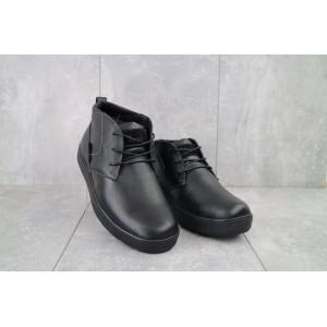 Ботинки мужские Yuves 777chorn черные (натуральная кожа, зима)