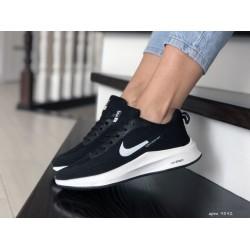 Кроссовки женские (подростковые) Nike Flyknit Lunar 3,черно белые