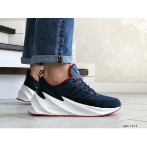 Мужские модные кроссовки Adidas Sharks,темно синие с белым