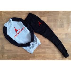 """Комбинированный костюм Jordan теплый (белое лого) """""""" В стиле Jordan """"""""0553"""
