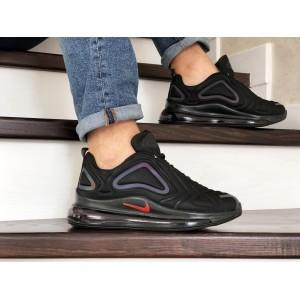 Мужские кроссовки Nike air max 720,черные с фиолетовым