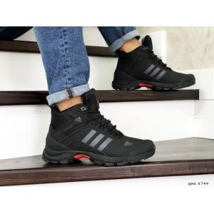 Мужские зимние кроссовки Adidas Climaproof,нубук,черные