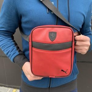Мужская барсетка Puma Ferrari красная (Пума Ферари) сумка через плече