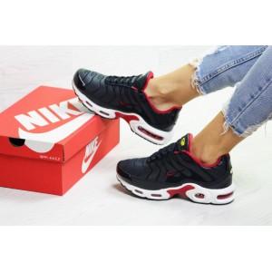 Подростковые зимние кроссовки Nike air max TN,темно синие с белым на меху 36,39р