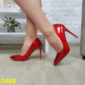 Туфли лодочки классика красные