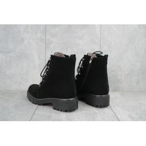 Ботинки женские Katrina 380 черные (замша, зима)
