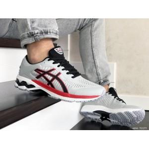 Мужские кроссовки Asics Gel-Kayano 25,сетка,светло серые с красным