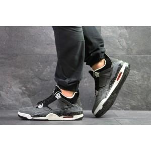 Модные кроссовки Nike Air Jordan Flight,нубук,серые 44р