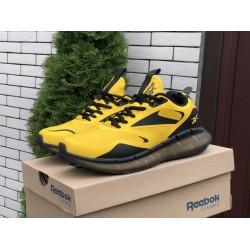 Мужские демисезонные кожаные кроссовки Reebok,желтые