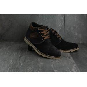 Ботинки Yuves Clarks 51 (зима, мужские, замша, синий)