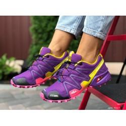 Женские, подростковые кроссовки Salomon Speedcross 3,фиолетовые,кроссовки для бега