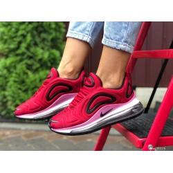 Модные женские,текстильные кроссовки Nike Air Max 720, бордовые