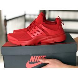Кроссовки Nike air presto,сетка, красные