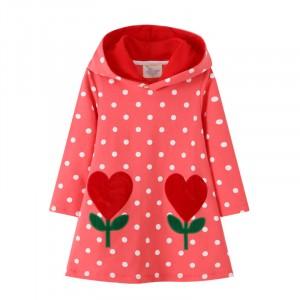 Платье для девочки с капюшоном Red flowers Jumping Meters