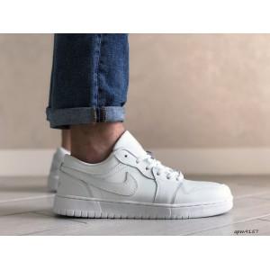 Мужские весенние кроссовки Nike Air Jordan 1 Low, белые