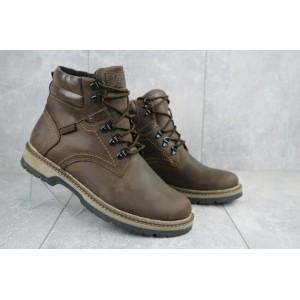 Ботинки мужские Yuves Obr 6 коричневые (натуральная кожа, зима)