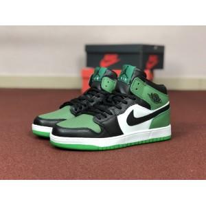 Мужские кроссовки Nike Air Jordan 1 Retro,зеленые