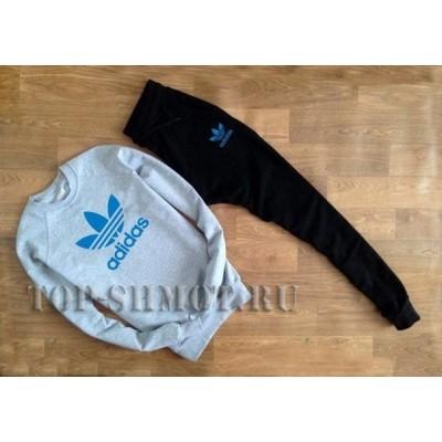"""Спортивный костюм Adidas синий принт """""""" В стиле Adidas """""""" 0503"""