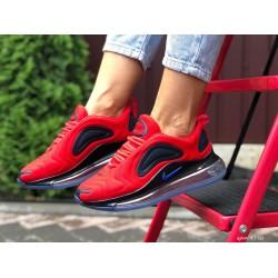 Модные женские,текстильные кроссовки Nike Air Max 720, красные с черным