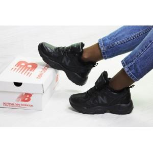 Зимние подростковые кроссовки New Balance 608,черные 36р