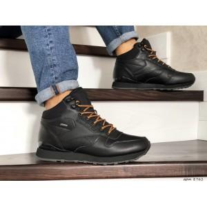 Мужские высокие зимние кроссовки Reebok,черные