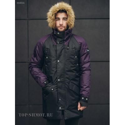 Зимняя парка Staff trento black and purple