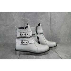 Ботинки женские BENZ 71002.1 серебристые (натуральная кожа, зима)