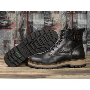 Зимние ботинки на меху Clarks Comfort, черные (31101) размеры в наличии ► [ 40 42 43 44 45 ]