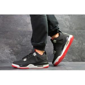 Модные кроссовки Nike Air Jordan Flight,нубук,черные 46р