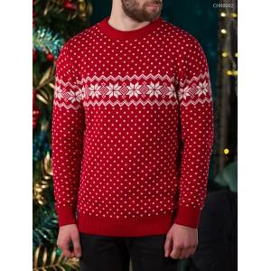Вязаный свитер Staff snow red
