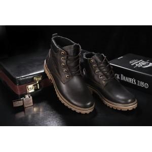 Ботинки Yuves 444 (Clarks) (зима, мужские, натуральная кожа, коричневый)