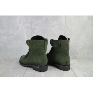 Ботинки женские Vikont 7-7-32 зеленые (натуральная кожа, зима)