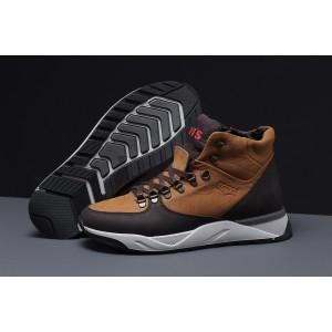 Зимние мужские ботинки 31621, Levi's (мех), рыжие, [ 41 42 ] р. 44-28,8см.