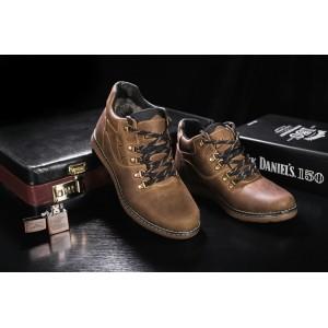 Ботинки Yuves 600 (Clarks) (зима, мужские, натуральная кожа, оливковый)