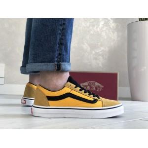 Мужские кеды Vans,замшевые,желтые