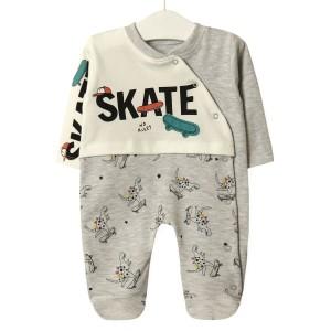 Человечек детский Скейтборд, серый Twetoon