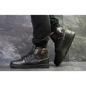 Высокие зимние кроссовки Fila Tourissimo, черные,на меху