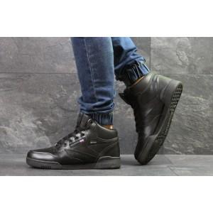Высокие зимние кроссовки Reebok,черные,на меху
