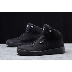 Зимние мужские кроссовки 31693, Puma Desierto Sneaker, черные, [ 42 43 ] р. 43-28,0см.