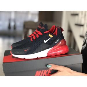 Женские кроссовки Nike Air Max 270,сетка,темно синие с красным