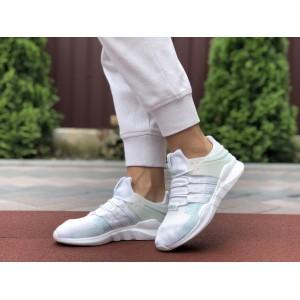 Летние кроссовки Adidas Equipment,сетка,белые с мятным