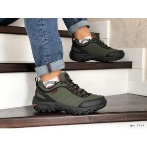 Зимние мужские кроссовки Merrell,нубук,темно зеленые