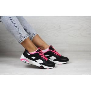 Женские кроссовки Puma Trinomic,черные с розовым