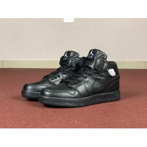 Мужские кроссовки Nike Air Jordan 1 Retro,черные