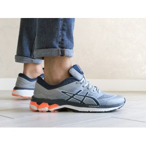 Мужские кроссовки Asics,сетка,серые с синим