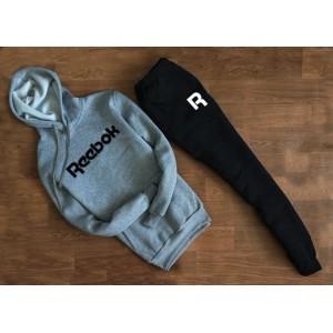 """Мужской трикотажный костюм REEBOK серый свитшот с капюшоном """""""" В стиле Reebok """""""" 1268"""