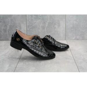 Туфли 152 -3 Jiulai (весна/осень, женские, искусственная кожа, черный)