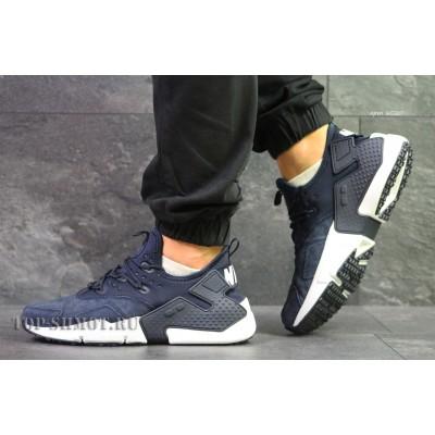 Мужские кроссовки Nike Air Huarache,замшевые,темно синие