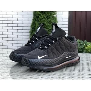 Мужские термо кроссовки Nike air max 720,черные с белым